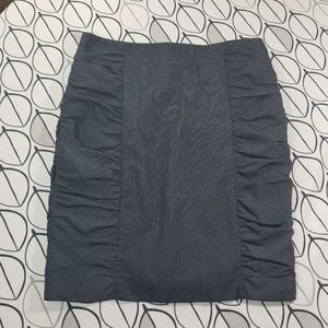 Cartonnier Navy acting Out Ruched Pencil Skirt
